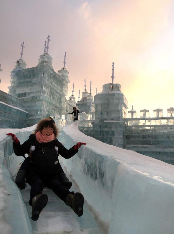 Divertida ciudad de hielo