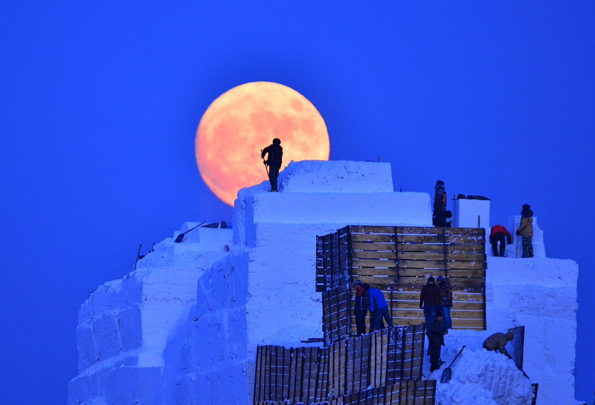 superluna en harbin