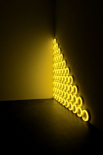 Dan Flavin, untitled (to a man, George McGovern) 2 (1972), via Art Observed