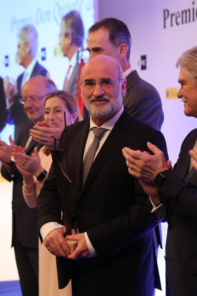 Fernando Aramburu. Premio Don Quijote de Periodismo 2018.Efe